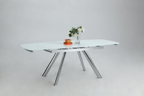 Chintaly Alina Dining Table In Super White