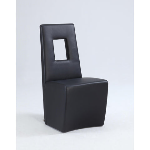 Chintaly Chasity Fully Upholstered Side Chair In Black