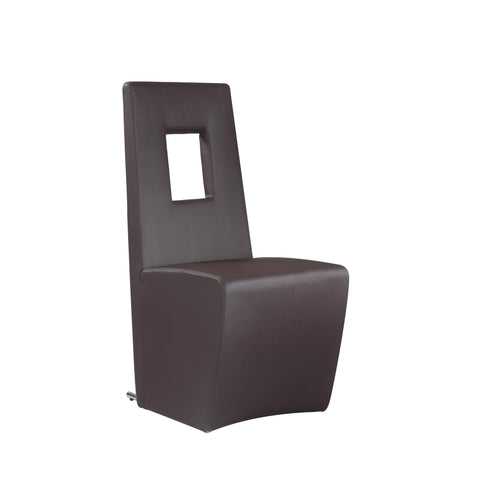 Chintaly Chasity Fully Upholstered Side Chair In Brown