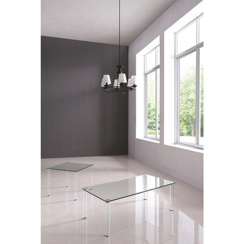 Chintaly Contemporary All Glass Lamp Table