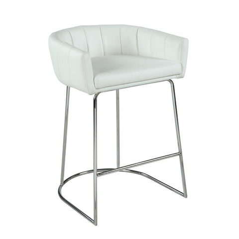 Chintaly Contemporary Channel Back Counter Stool