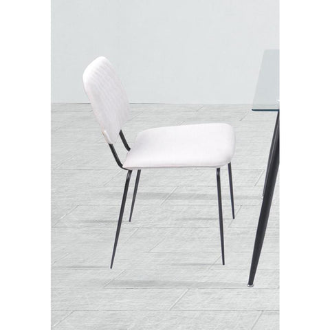 Chintaly Contemporary Diamond Stitch-Back Side Chair -  set of 4