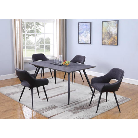 Chintaly Contemporary Dining Set with Table & Chairs