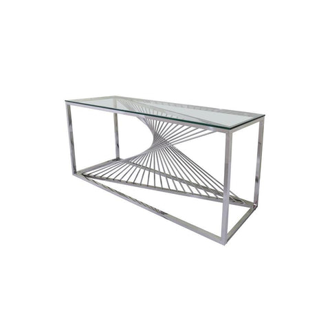 Chintaly Contemporary Glass Top Sofa Table