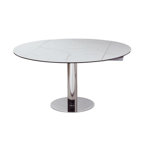 Chintaly Contemporary Motion-Extendable Dining Table w/Ceramic Top