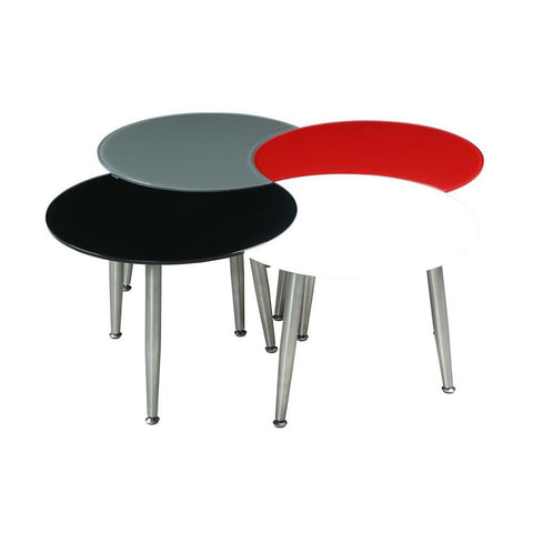Chintaly Contemporary Multi-Color Four Table Cocktail Table Set
