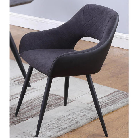 Chintaly Contemporary Open-Back Side Chair - -  set of 2