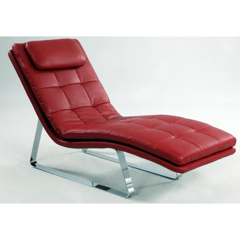 Chintaly Corvette Chaise Lounge In Red