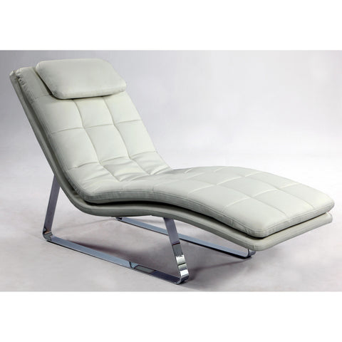 Chintaly Corvette Chaise Lounge In White