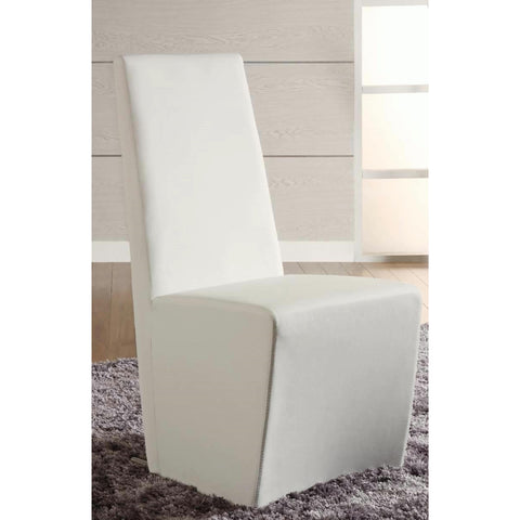 Chintaly Cynthia Fully Upholstered Modern Side Chair In White