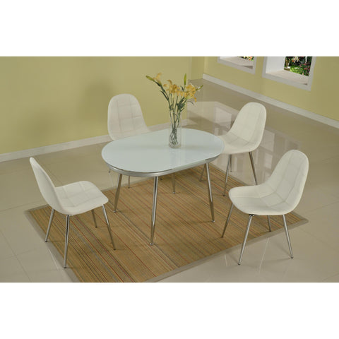Chintaly Donna Dining 5 Piece Dining Set