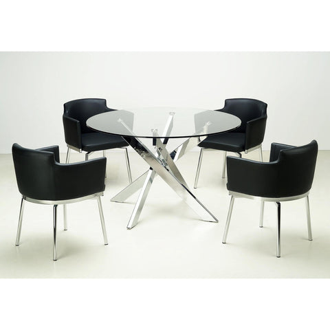 Chintaly Dusty 5 Piece Dining Set In Black