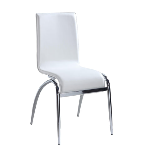 Chintaly Elaine Arch Leg Contemporary Side Chair In White