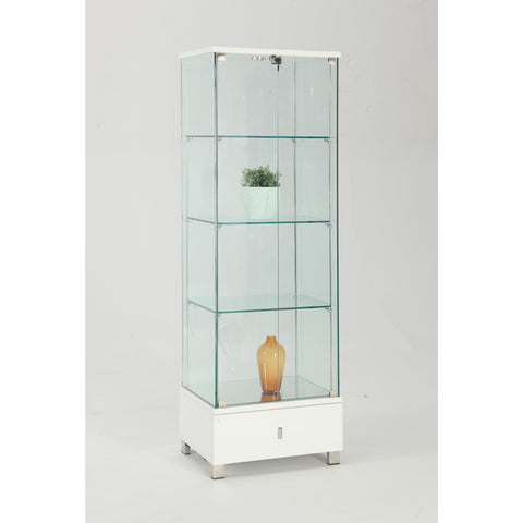 Chintaly Glass Curio In White