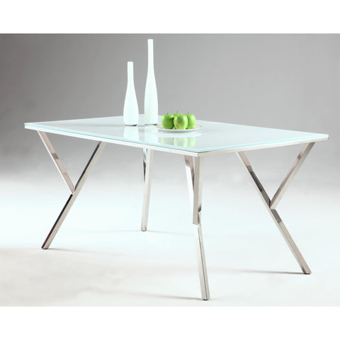 Chintaly Jade Dining Table In Super White
