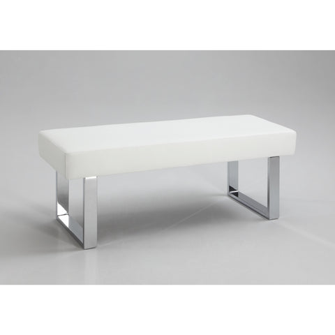 Chintaly Linden Long Bench In White