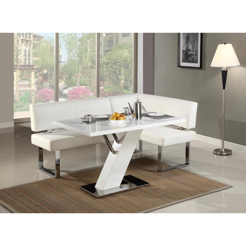 Chintaly Linden Nook Dining Set In Chrome