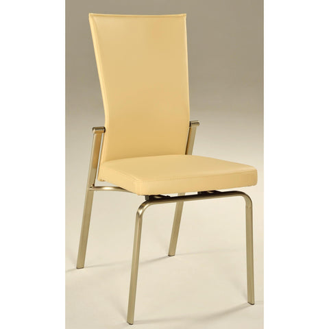Chintaly Molly Motion Back Side Chair In Beige