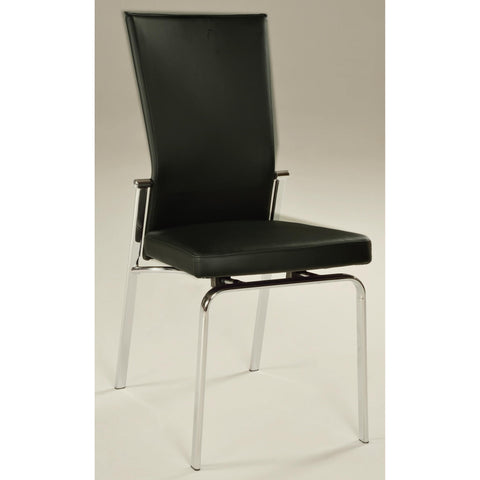 Chintaly Molly Motion Back Side Chair In Black