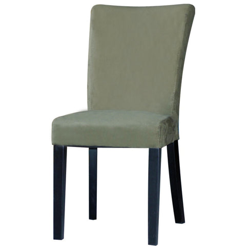 Chintaly Monica Modern Parson Side Chair In Green Microfiber