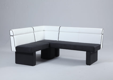 Chintaly Natasha Full Upholstered Nook In White And Black