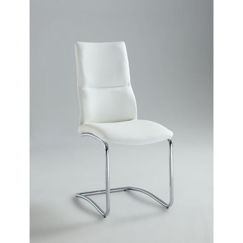 Chintaly Piper Curved Back Side Chair In White