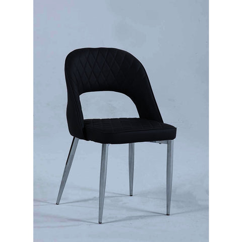Chintaly Samantha Stationary Open Back Chair in Grey