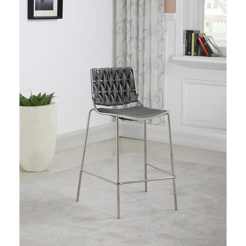 Chintaly Stackable Counter Stool with Weave Back -  set of 2