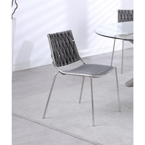 Chintaly Stackable Side Chair w/ Weave Back -  set of 4