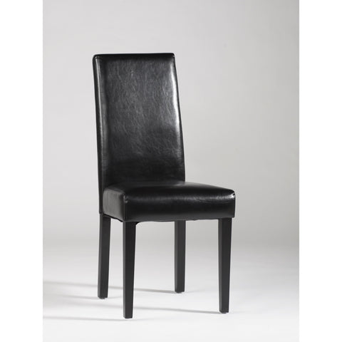 Chintaly Straight Back Parson Chair In Black