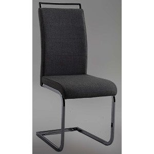 Chintaly Sunny Handle Back Patterned Side Chair in Grey