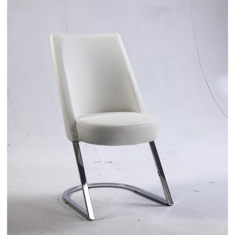 Chintaly Tami Slight Concave Back Side Chair In White