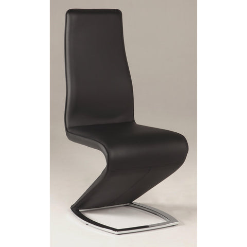 "Chintaly Tara ""Z"" Style Side Chair In Black"