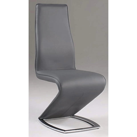 "Chintaly Tara ""Z"" Style Side Chair In Grey"