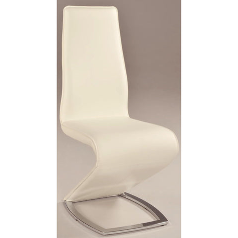 "Chintaly Tara ""Z"" Style Side Chair In White"
