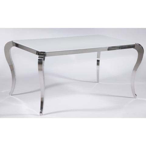 Chintaly Teresa Dining Table In Super White