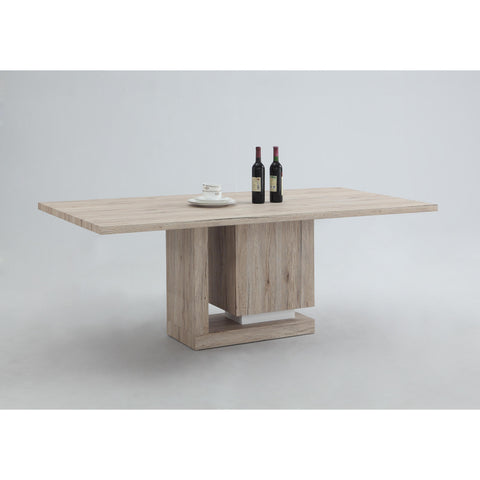 Chintaly Tiffany Dining Table - 3D In Light Oak