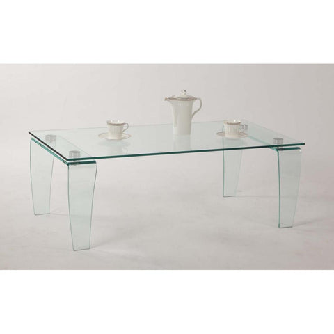 Chintaly Vera Cocktail Table In Clear Glass
