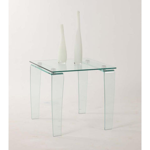 Chintaly Vera Lamp Table In Clear Glass