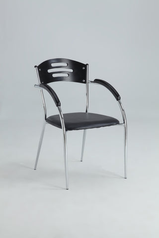 Chintaly Yolanda Solid Rubber Wood Side Chair In Black