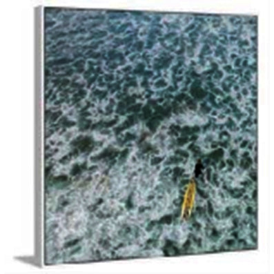 Choppy Waters Painting Print On Wrapped Canvas With Floater Frame