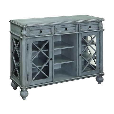 Coast To Coast 13612 Three Drawer Two Door Credenza in Mabry Mill Burnished Blue