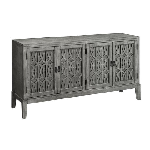 Coast To Coast 13614 Four Door Media Credenza in Magnet Burnished Grey