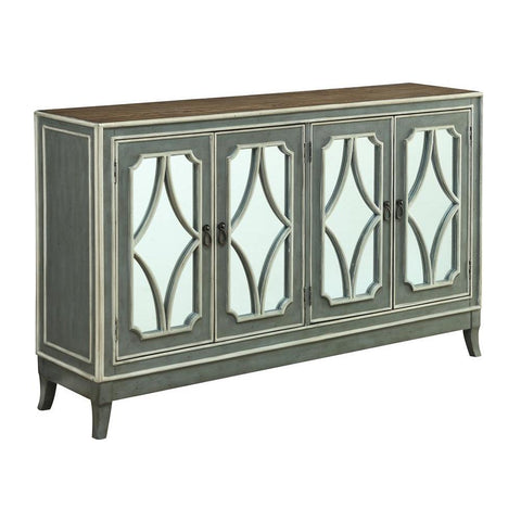 Coast To Coast 13715 Four Door Media Credenza in Heatherfield Grey