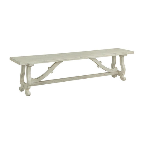 Coast To Coast 22607 Orchard Park Dining Bench in Orchard White Rub