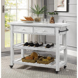 Coast To Coast 30434 Orchard Park Two Drawer Kitchen Cart