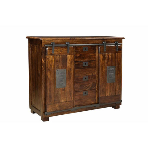 Coast To Coast 34707 Two Door Four Drawer Sideboard in Ironworks Warm Brown