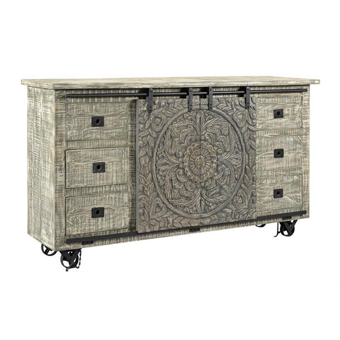 Coast To Coast 37121 Two Sliding Door Six Drawer Media Credenza