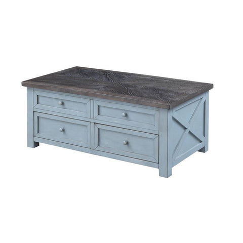 Coast To Coast 40306 Bar Harbor Two Drawer Lift Top Cocktail Table