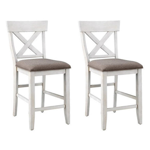 Coast To Coast Set of 2 Bar Harbor II Counter Height Dining Chairs